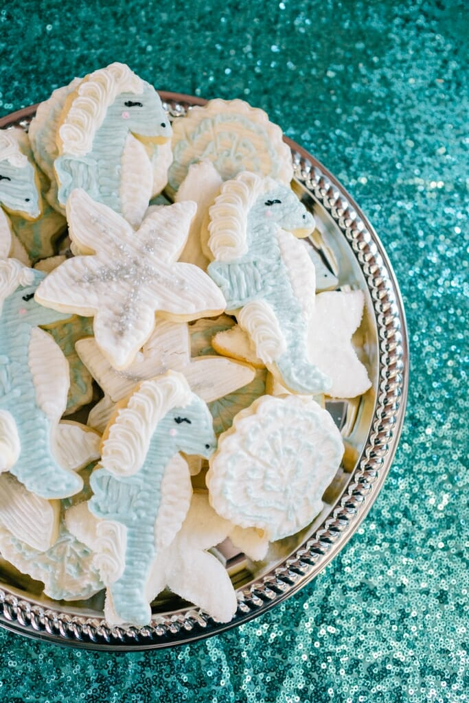 Nautical themed wedding cookies