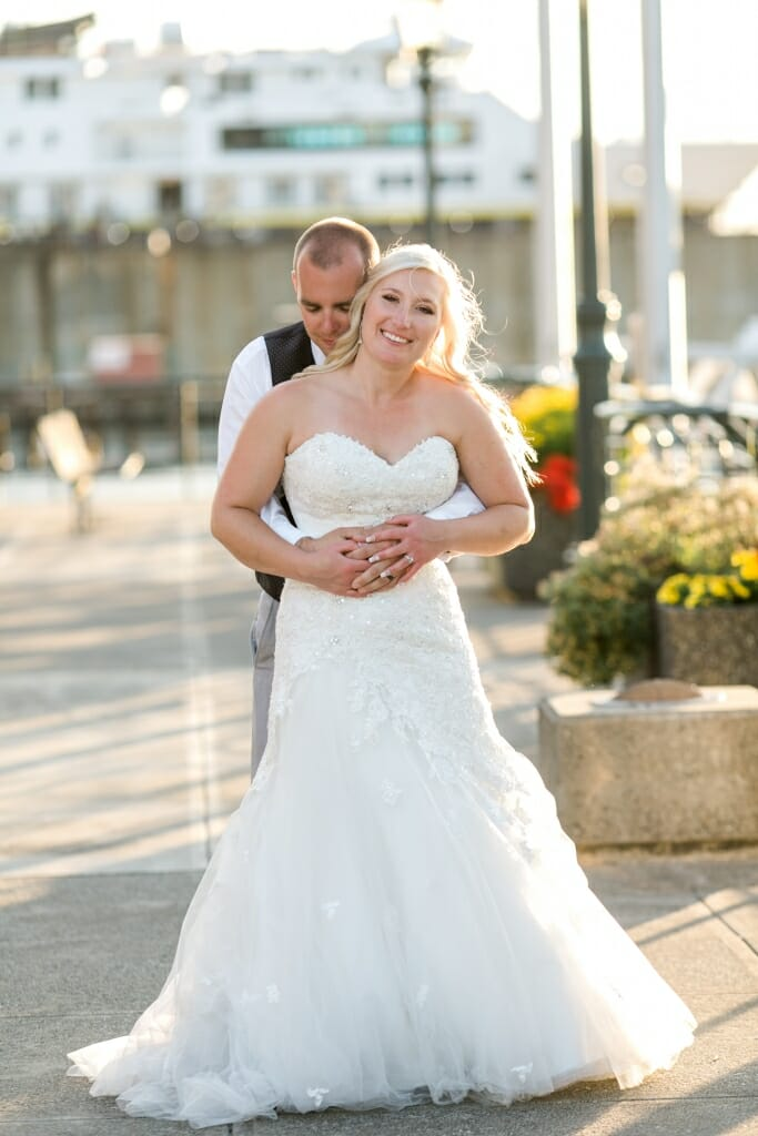 Bride and Groom at Bellingham Cruise Terminal