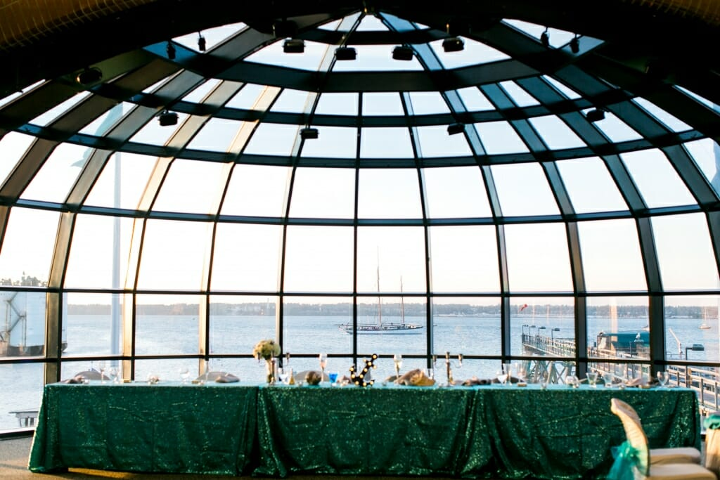 The wedding reception at Bellingham Cruise Terminal