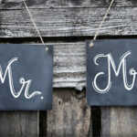 Chalk Boss chalkboards showing Mr. and Mrs. artwork