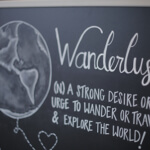 Chalk Boss chalkboards showing Wanderlust artwork