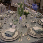 Waterways cruises reception table in silver