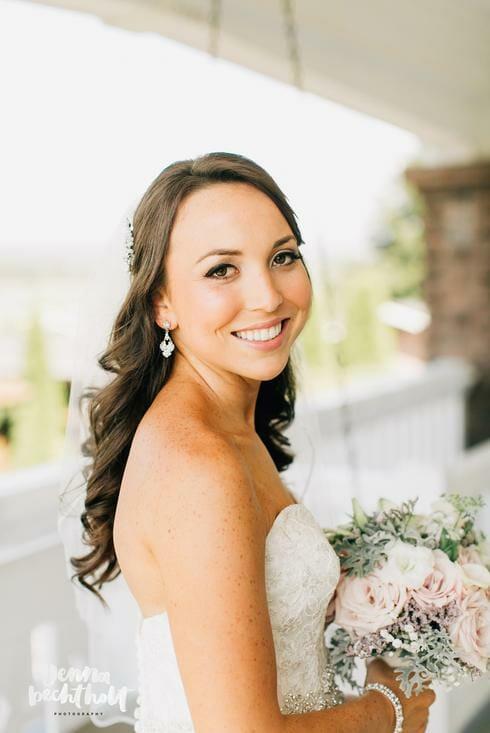 Bride at Lord Hill Farms venue