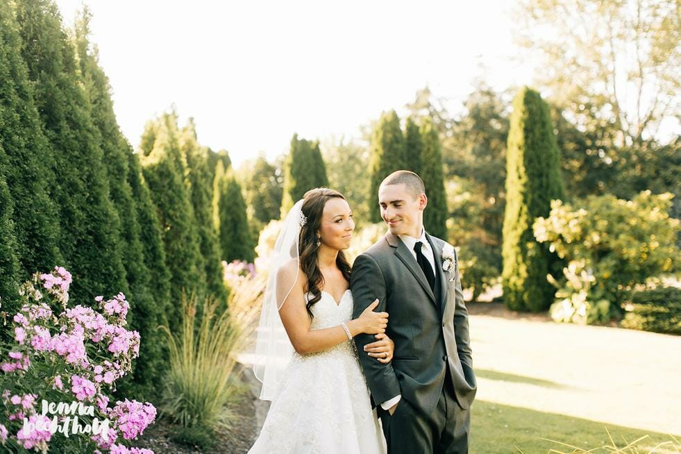 Bride and groom at Lord Hill Farms venue