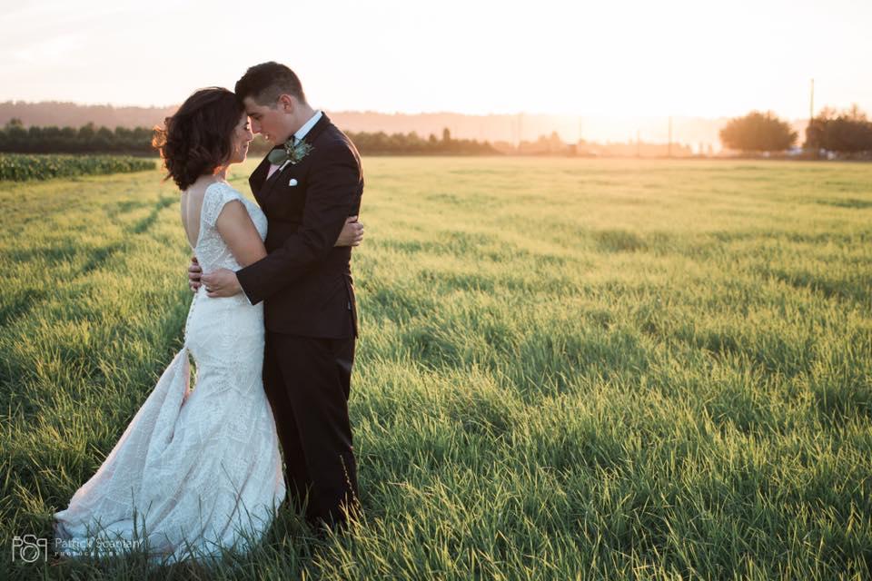 Sarah And Justin Sunset Photo